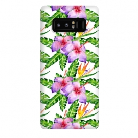 Galaxy Note 8  Tropical Jungle Floral Print by Becky Starsmore