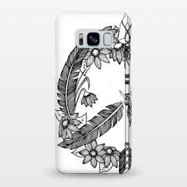Galaxy S8+  Bohemian Arrow & Feather Peace Sign by Becky Starsmore