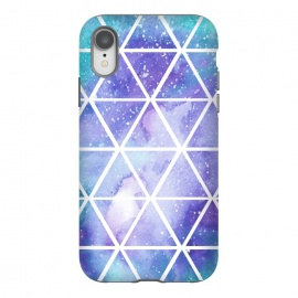 iPhone Xr  Geometric Galaxy Print by Becky Starsmore
