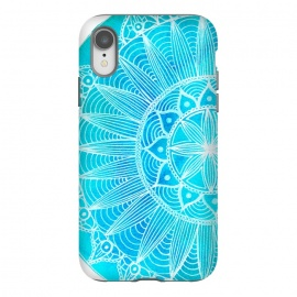 iPhone Xr  Blue Watercolour Mandala by Becky Starsmore