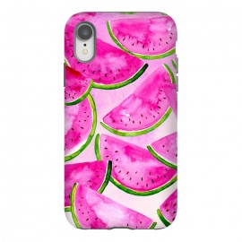 Pink Summer Watermelon Print by Becky Starsmore