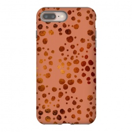 Peach and Gold Splatter by allgirls (abstract,peach,gold,dots,splatter,pattern,fancy,holidays)