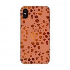 iPhone X  Peach and Gold Splatter by allgirls