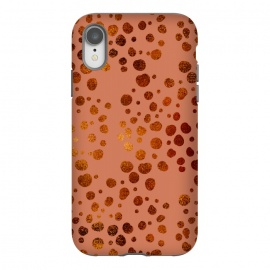 iPhone Xr  Peach and Gold Splatter by allgirls