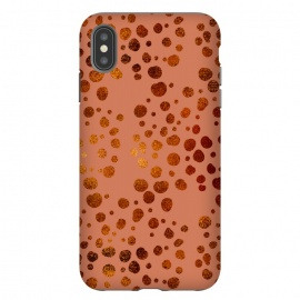 iPhone Xs Max  Peach and Gold Splatter by allgirls