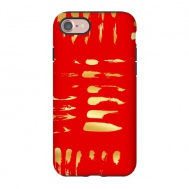 iPhone 8/7  Eye Catcher by allgirls (abstract,red,gold,holidays,christmas,pattern,fancy,glam)
