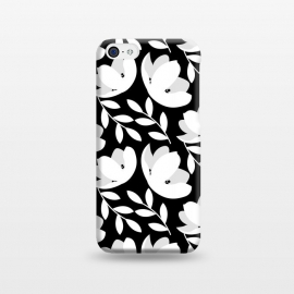 iPhone 5C  Black and White Floral Pattern by allgirls