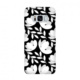 Black and White Floral Pattern by allgirls (black and white, flowers,floral,pattern,elegant,classic,chic)