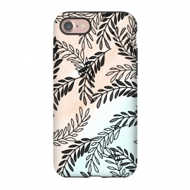 iPhone 8/7  Omber Foliage by allgirls ( foliage,leaves,nature pattern,mint,blush,elegant,chic,omber)