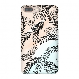 iPhone 8/7 plus  Omber Foliage by  ( foliage,leaves,nature pattern,mint,blush,elegant,chic,omber)