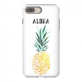 Aloha by allgirls (aloha, greetings, pineapple, tropical, typography, elegant,trendy,chic)