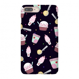 iPhone 8/7 plus  Treat Me by  (treat, ice cream, popsicles, cones, blue,food,dessert,yummy,cold,delightful,sweets)