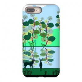 Forest Landscape by allgirls (forest, nature, trees, woods, woodland animals, deer,elegant,chic,cute,illustration)