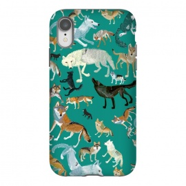 iPhone Xr  Wolves of The World Green by Belette Le Pink