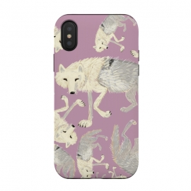 iPhone Xs / X  Artic Wolf lilac by Belette Le Pink