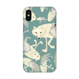 iPhone X  Artic Wolf turquoise by