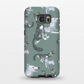Galaxy S7 EDGE  Canadian wolves pattern by Belette Le Pink