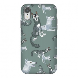 iPhone Xr  Canadian wolves pattern by Belette Le Pink