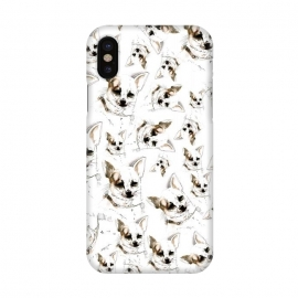 iPhone X  Chihuahua pattern by Belette Le Pink