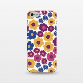 iPhone 5/5E/5s  Pop Floral by TracyLucy Designs (pop,floral,nature,feminie,chic,pattern)