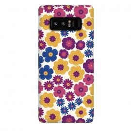 Galaxy Note 8  Pop Floral by TracyLucy Designs (pop,floral,nature,feminie,chic,pattern)