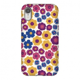 iPhone Xr  Pop Floral by TracyLucy Designs (pop,floral,nature,feminie,chic,pattern)