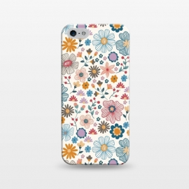 iPhone 5/5E/5s  Winter Wild Bloom  by TracyLucy Designs (wild blooms ,floral ,winter,cool,chic,nature,pattern)