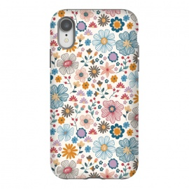 iPhone Xr  Winter Wild Bloom  by TracyLucy Designs (wild blooms ,floral ,winter,cool,chic,nature,pattern)