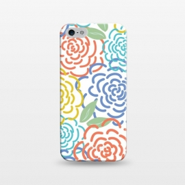 iPhone 5/5E/5s  Roses I by TracyLucy Designs (floral,roses,illustration,colorful)