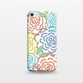 iPhone 5C  Roses I by TracyLucy Designs (floral,roses,illustration,colorful)