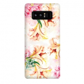 Galaxy Note 8  Peony Floral by Creativeaxle