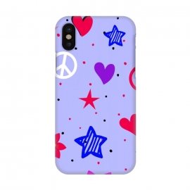 iPhone X  PEACE LOVE PURPLE by MALLIKA