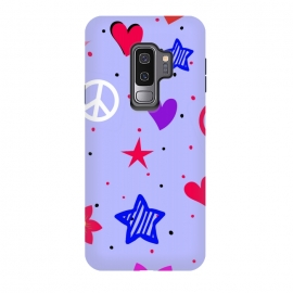 Galaxy S9 plus  PEACE LOVE PURPLE by
