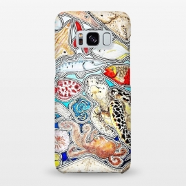 Galaxy S8+  Underwater life and world, sea turtle, fish, seahorse, octopus, ray, seastar by Chloe Yzoard