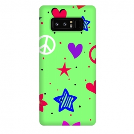 Galaxy Note 8  peace love green by MALLIKA