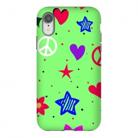 iPhone Xr  peace love green by