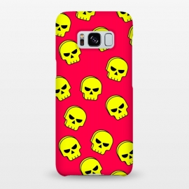 Galaxy S8+  yellow skull pattern by MALLIKA