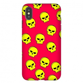 yellow skull pattern by MALLIKA