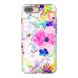 iPhone 8/7 plus  Pretty watercolor floral hand paint design by InovArts