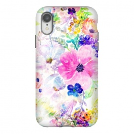 iPhone Xr  Pretty watercolor floral hand paint design by InovArts