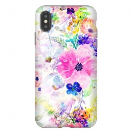 iPhone Xs Max  Pretty watercolor floral hand paint design by InovArts