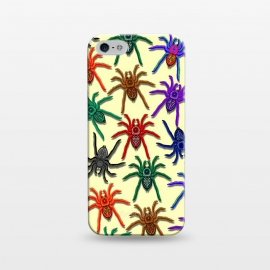 iPhone 5/5E/5s  Spiders Colorful Halloween Tarantulas Pattern by