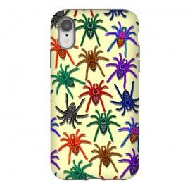 iPhone Xr  Spiders Colorful Halloween Tarantulas Pattern by