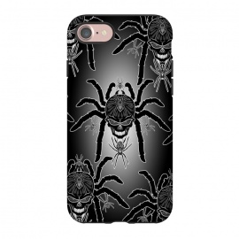 iPhone 8/7  Spider Skull Tattoo Black and Whi by BluedarkArt