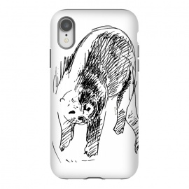 iPhone Xr  Otter in lines by Belette Le Pink