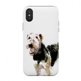 iPhone Xs / X  Airedale terrier by Belette Le Pink