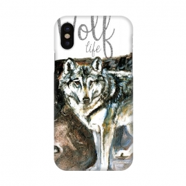 iPhone X  Wolf life by Belette Le Pink