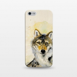 iPhone 5/5E/5s  Totem grey wolf by Belette Le Pink