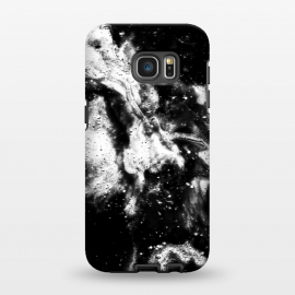 Galaxy S7 EDGE  BW2 by Ashley Camille (black and white,black,white,paint,abstract)