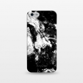 iPhone 5/5E/5s  BW2 by Ashley Camille (black and white,black,white,paint,abstract)